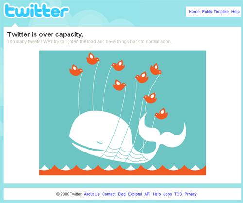 Twitter overload error.