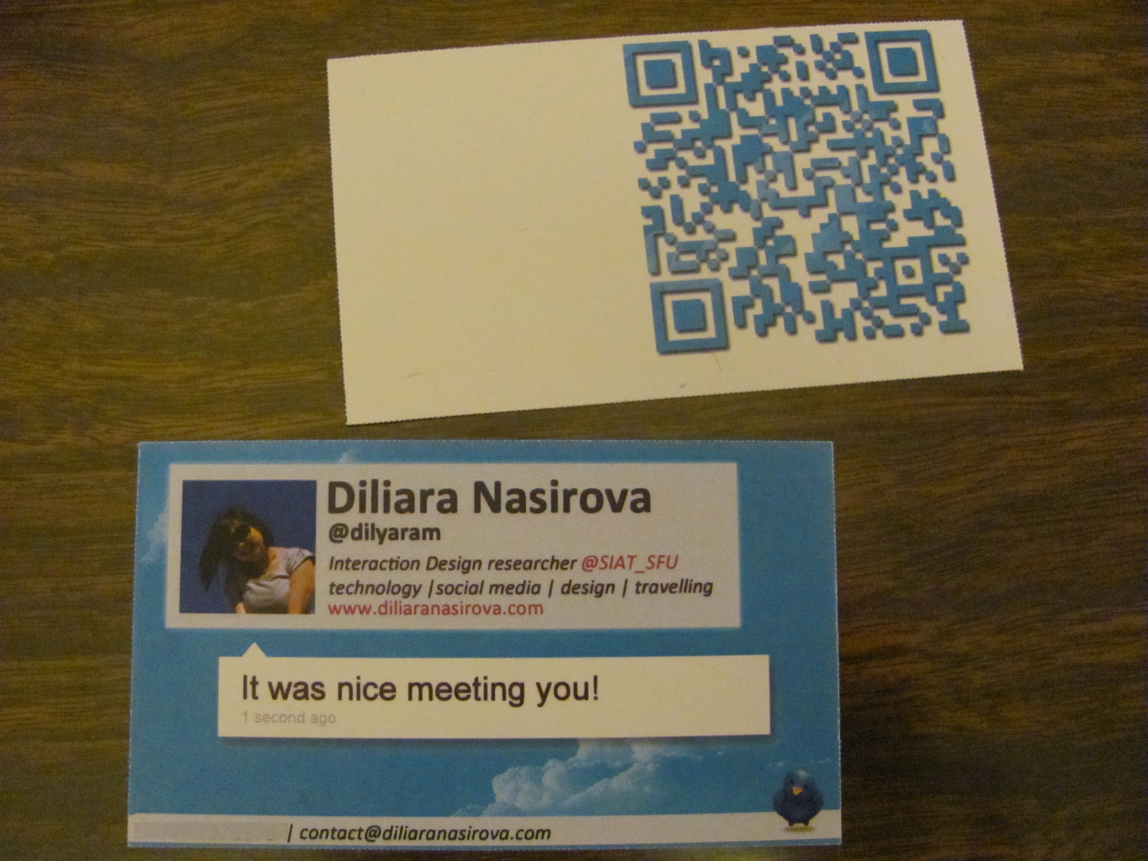 My business cards design